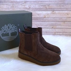 Timberland Bluebell Lane Suede Chelsea Wedge Boots
